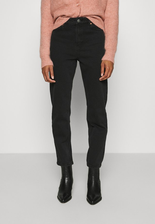 TROUSERS BETTY - Straight leg -farkut - black