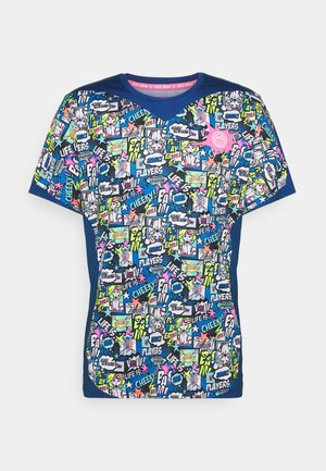 JIRO TECH TEE - Print T-shirt - dark blue