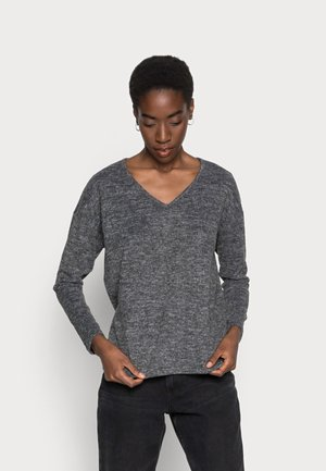 SIANE V NECK  - Sweter - dark grey melange