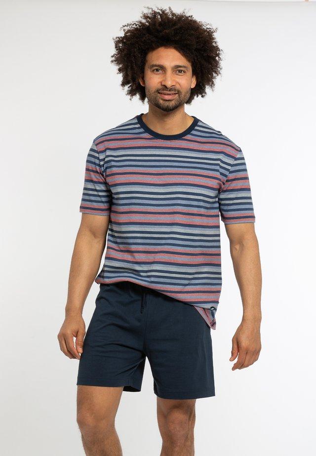Pyjama set - dunkelblau / blau gestreift