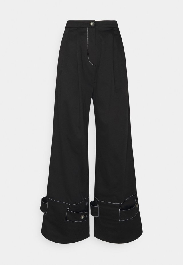 HOLLY - Broek - black