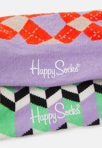 Happy Socks - ZIG ZAG STRIPE SOCK DISTORTED ARGYLE SOCK UNISEX2 PACK - Socks - multi - 1