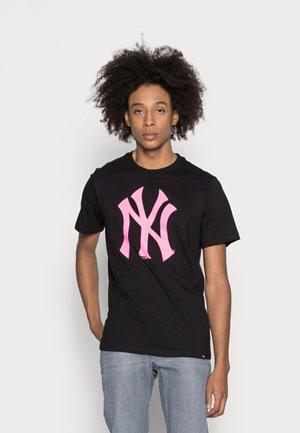 NEW YORK YANKEES IMPRINT ECHO TEE - T-shirt print - jet black