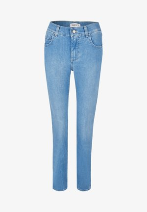CICI' MIT DEZENTER WASCHUNG - Straight leg jeans - light-blue denim