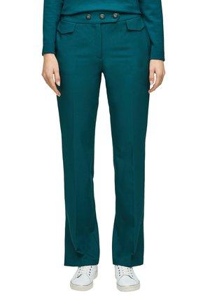 MIT ZIERKNÖPFEN - Trousers - green