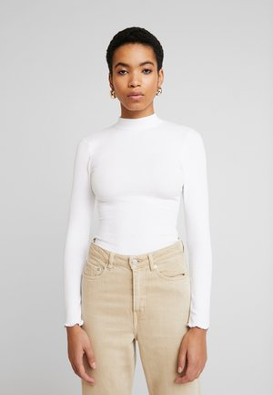 SCOOP ESSENTIAL BODY - Long sleeved top - white
