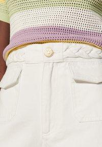 sandro - Straight leg jeans - blanc - 4