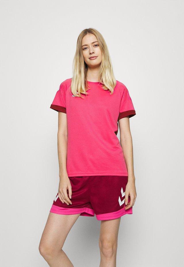 LEAD WOMEN - T-shirt imprimé - raspberry sorbet