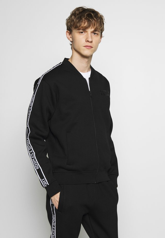 TRACK JACKET - Zip-up hoodie - black
