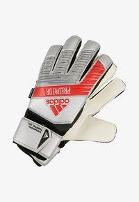 PREDATOR TOP TRAINING FS - Goalkeeping gloves - silver metallic/black