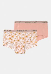 Name it - NKFHIPSTER FLOWER 2 PACK - Pants - silver pink - 0