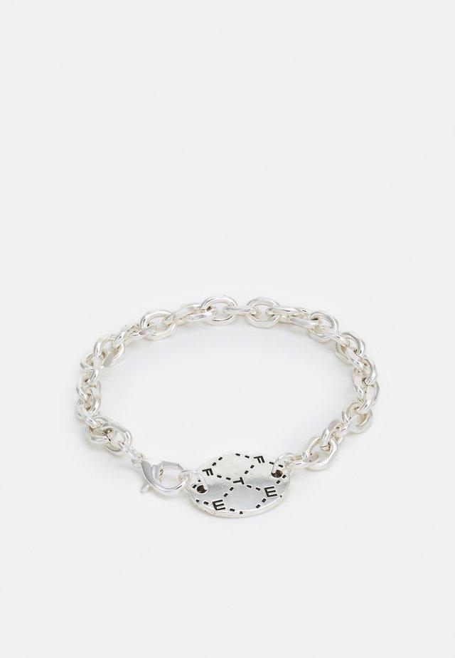 MONOGRAM ENGRAVED DISK BRACELET - Bracelet - silver-coloured