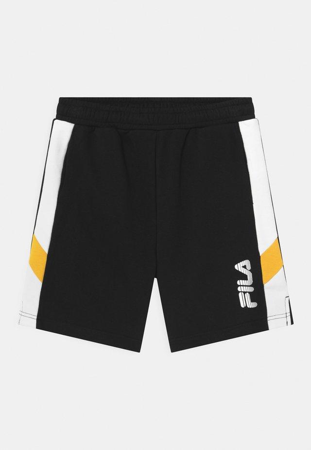 MIO - Teplákové kalhoty - black/bright white/lemon chrome