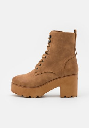 EMELINE - Lace-up ankle boots - brown