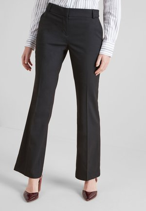 TAILORED BOOT CUT  - Trousers - black