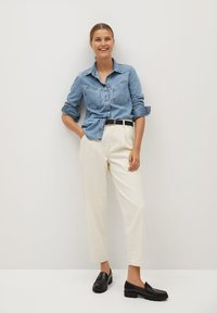 Mango - Button-down blouse - bleu moyen - 1