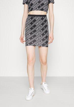 LOGO PRINT SKIRT - Minifalda - black