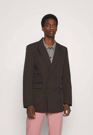 HENNESSEY RELAXED DOUBLE BREASTED SUIT JACKET - Blazer - dark brown