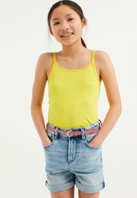 WE Fashion - MIT SPITZE - Top - bright yellow - 1