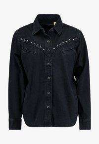 Levi's® - DORI WESTERN - Button-down blouse - black sheep - 3