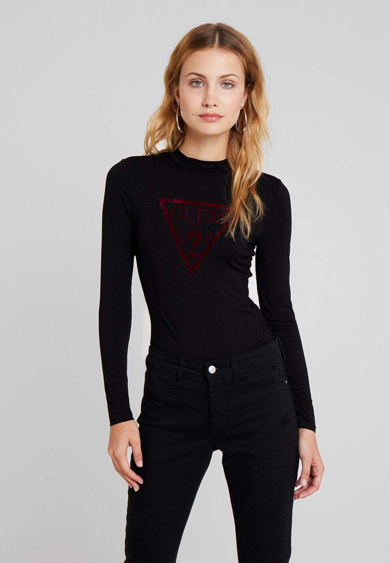 Guess - LEO TRIANGLE BODY - Long sleeved top - jet black