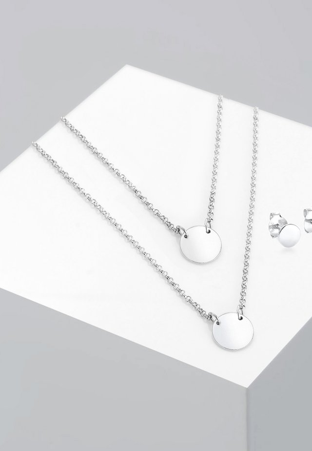 BASIC SCHMUCKSET - Korvakorut - silver-coloured