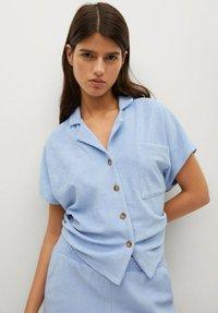 Mango - Overhemdblouse - hemelsblauw - 3