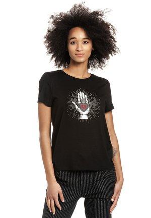 MYSTIC LOVE - Print T-shirt - schwarz