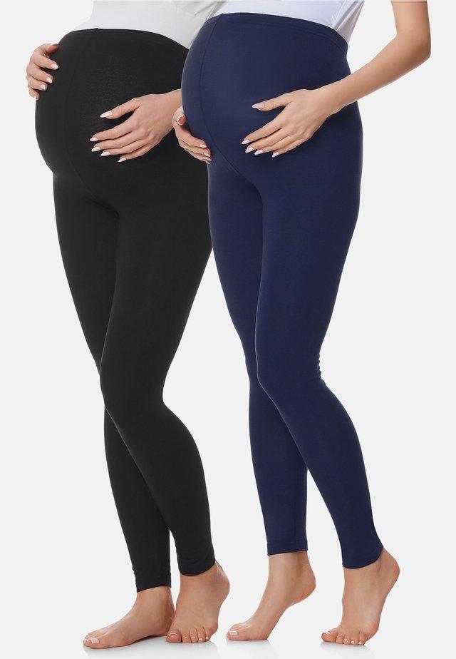 2 PACK - Legging - schwarz/marineblau