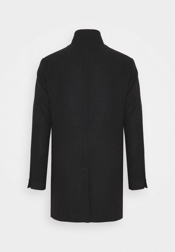 Jack & Jones JJECOLLUM COAT - Płaszcz wełniany /Płaszcz klasyczny - black/czarny Odzież Męska KMCI