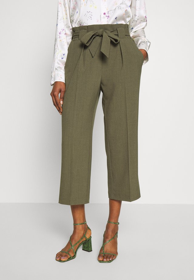 LIDY ANKLE BELT - Trousers - burnt olive melange