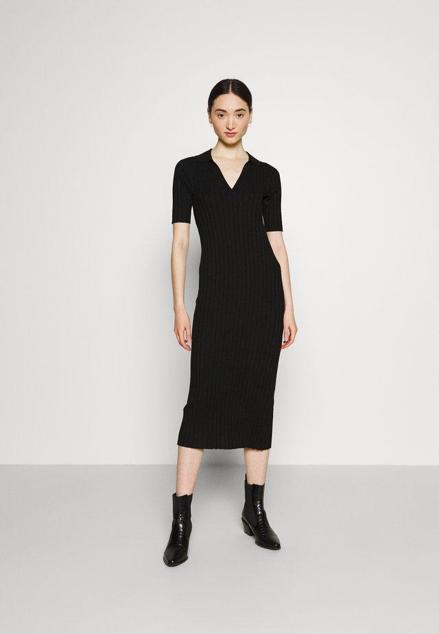 JAQUELINE DRESS - Korte jurk - black solid