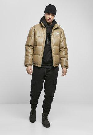 HERREN SOUTHPOLE IMITATION LEATHER BUBBLE - Leather jacket - khaki