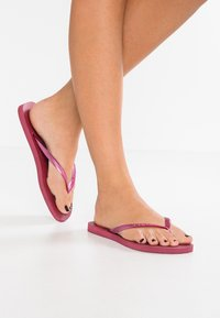 Havaianas - KIDS SLIM - Pool shoes - beet - 0