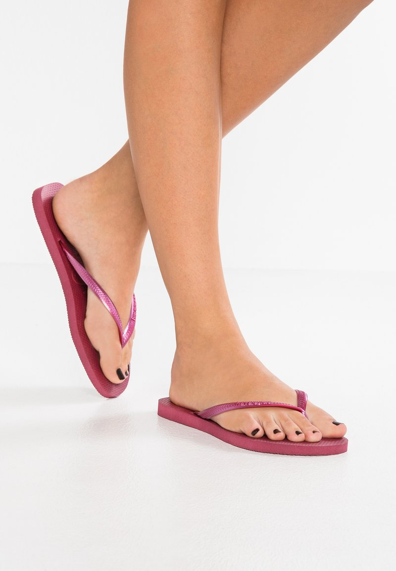 Havaianas - KIDS SLIM - Pool shoes - beet
