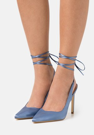 DECOLLETE ALTO ALLACCIATA CAVIGLIA - Zapatos de salón con cordones - denim
