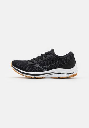 WAVE RIDER 24 WAVEKNIT - Neutral running shoes - black/dark shadow/biscuit