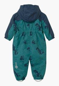 Color Kids - DOTS UNISEX - Snowsuit - dark green/dark blue - 1