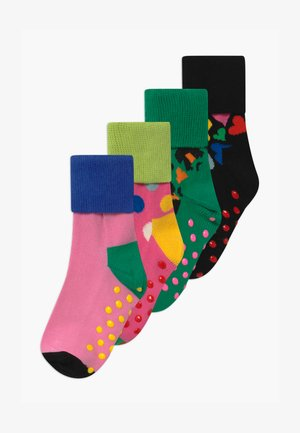 LEO/HEART ANTI-SLIP 4 PACK UNISEX - Socks - multi-coloured
