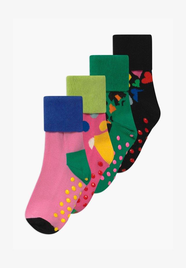 LEO/HEART ANTI-SLIP 4 PACK UNISEX - Strømper - multi-coloured