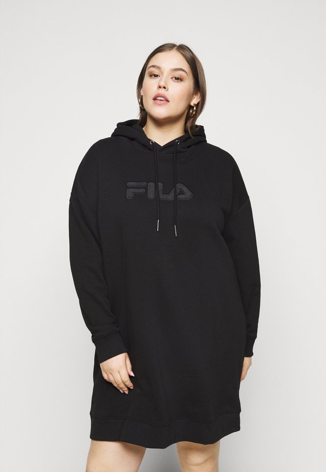 TEOFILA OVERSIZED HOODY DRESS - Vestito estivo - black
