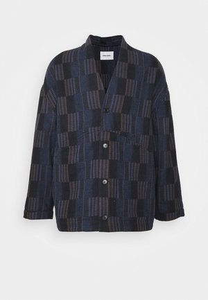 MIRROR JACKET MIXED CHECKS - Lehká bunda - dark blue/black