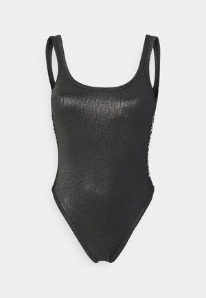 CORE FESTIVE SQUARE NECK ONE PIECE - Swimsuit - black