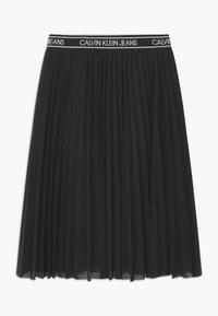 Calvin Klein Jeans - MIDI - Áčková sukně - black - 0