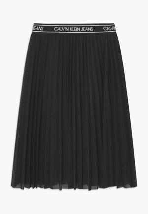 MIDI - Áčková sukně - black