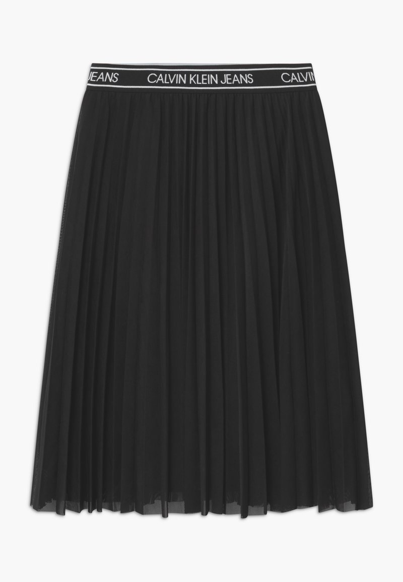 Calvin Klein Jeans - MIDI - Áčková sukně - black