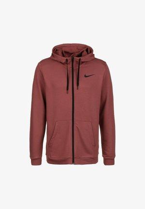 Zip-up hoodie - claystone red