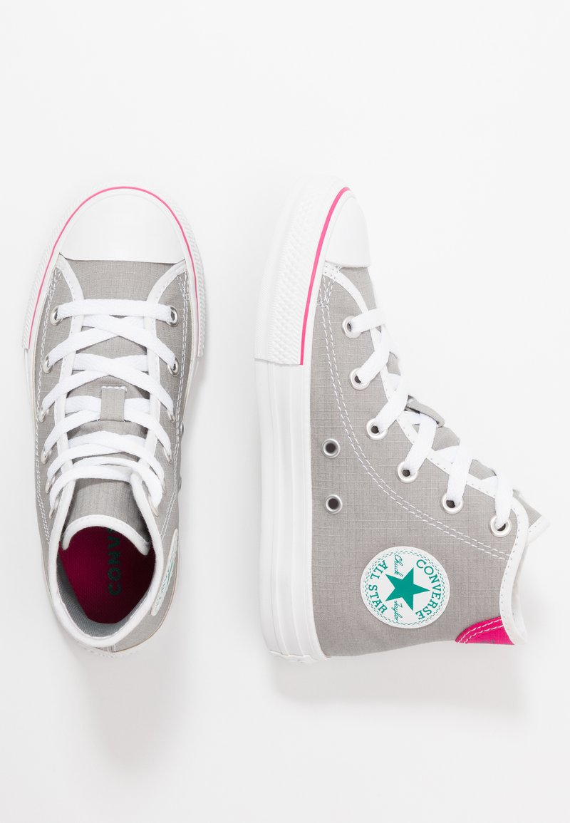 Converse - CHUCK TAYLOR ALL STAR - Sneakers hoog - dolphin/white/cerise pink