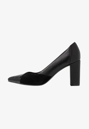 LEATHER PUMPS - High heels - black