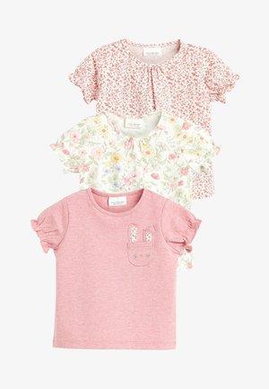 PINK 3 PACK FLORAL T-SHIRTS (0MTHS-3YRS) - Print T-shirt - pink